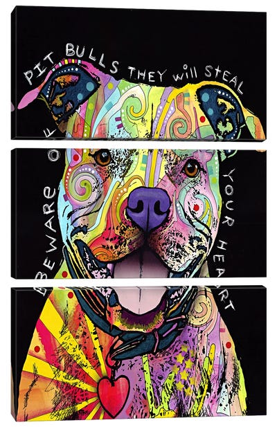 Beware of Pit Bulls by Dean Russo Art Print