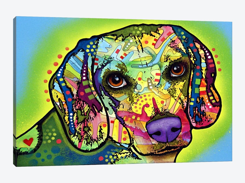 Beagle by Dean Russo 1-piece Canvas Wall Art