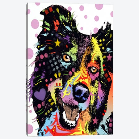 Border Collie Canvas Print #4235} by Dean Russo Canvas Artwork