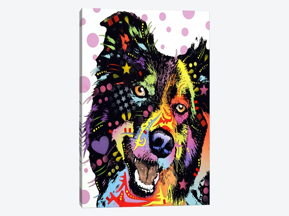 Border Collie by Dean Russo 1-piece Art Print