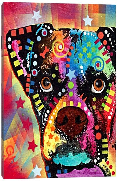 Boxer Cubism Canvas Print #4237