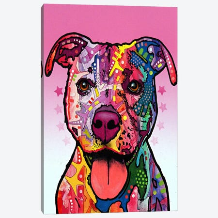 Cherish the Pit Bull Canvas Print #4238} by Dean Russo Canvas Print