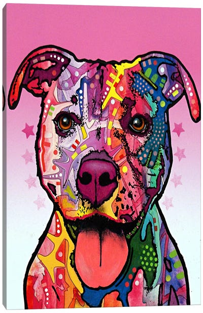 Cherish the Pit Bull Canvas Art Print