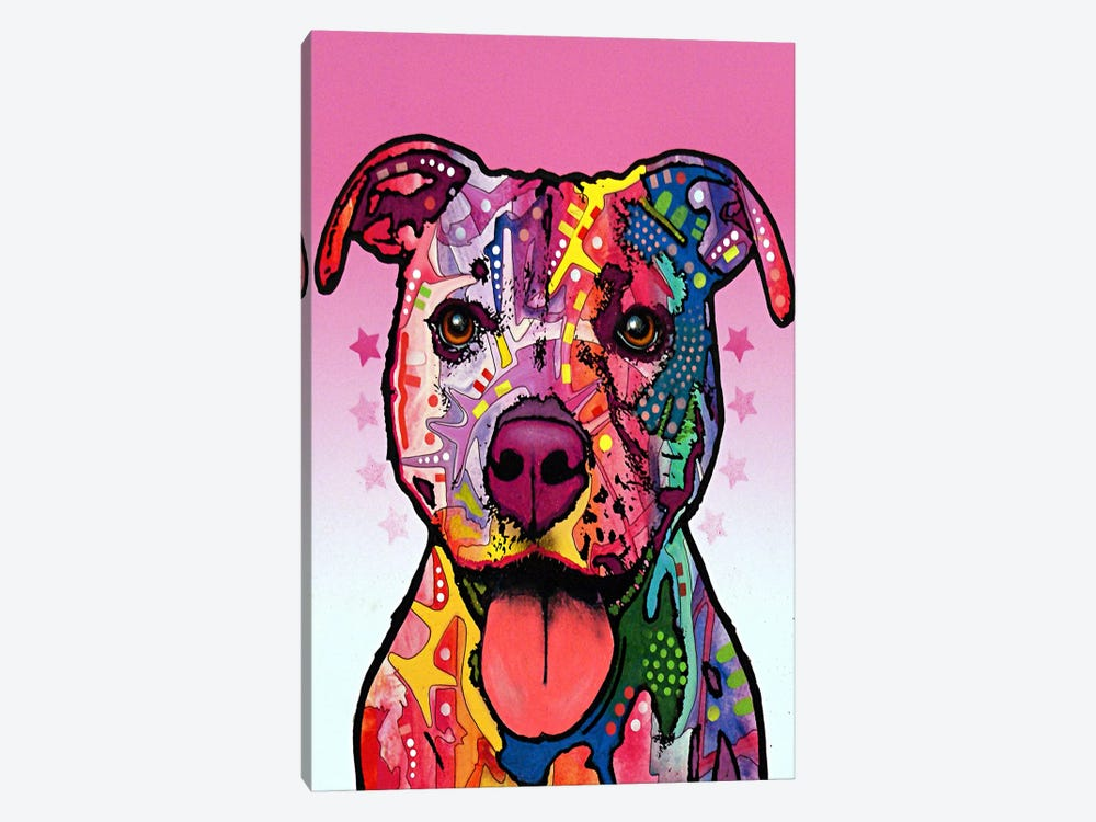 Cherish the Pit Bull by Dean Russo 1-piece Canvas Artwork