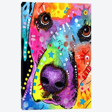 Closeup Labrador Canvas Print #4241} by Dean Russo Canvas Art