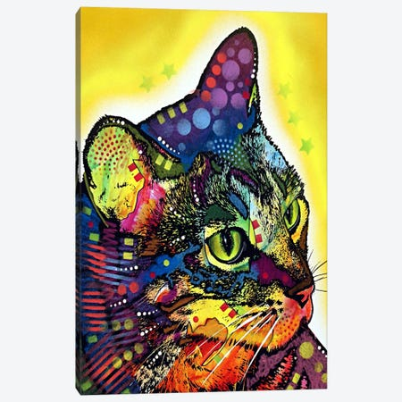 Confident Cat Canvas Print #4242} by Dean Russo Canvas Artwork
