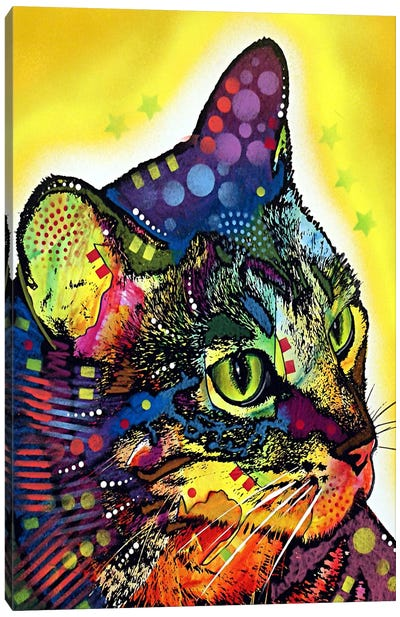 Confident Cat Canvas Art Print