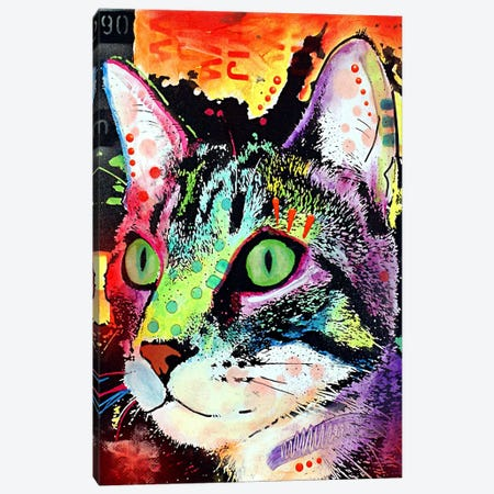 Curiosity Cat Canvas Print #4243} by Dean Russo Canvas Art
