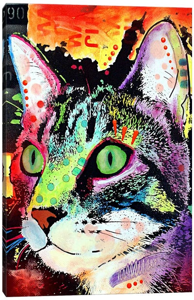 Curiosity Cat Canvas Art Print