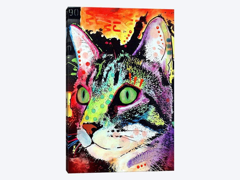 Curiosity Cat 1-piece Canvas Wall Art