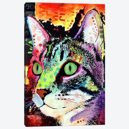 Curiosity Cat Canvas Print #4243} by Dean Russo Canvas Art