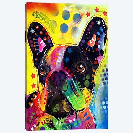 French Bulldog Canvas Print #4247} by Dean Russo Canvas Print