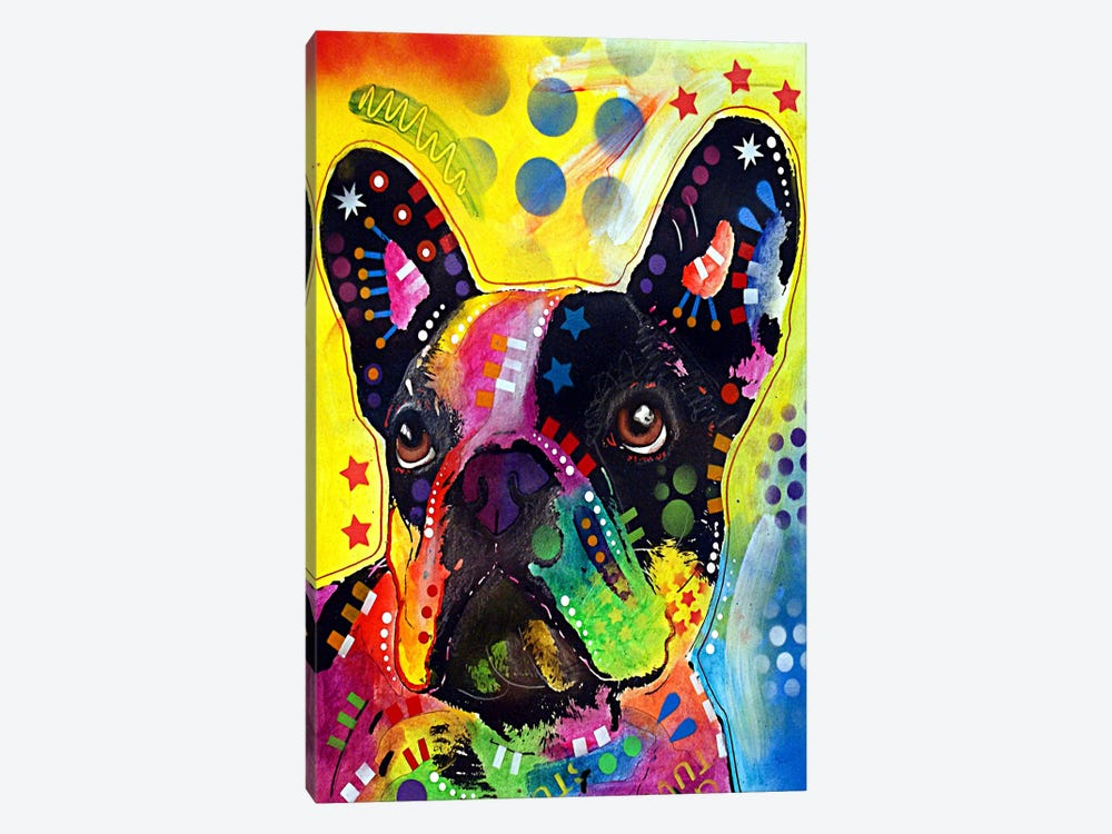 French Bulldog by Dean Russo 1-piece Canvas Wall Art