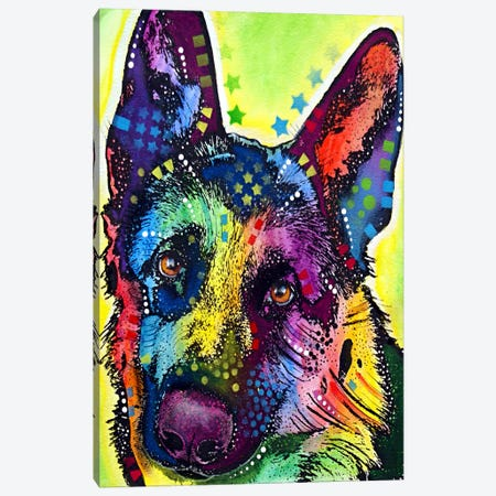 German Shepherd Canvas Print #4248} by Dean Russo Canvas Artwork