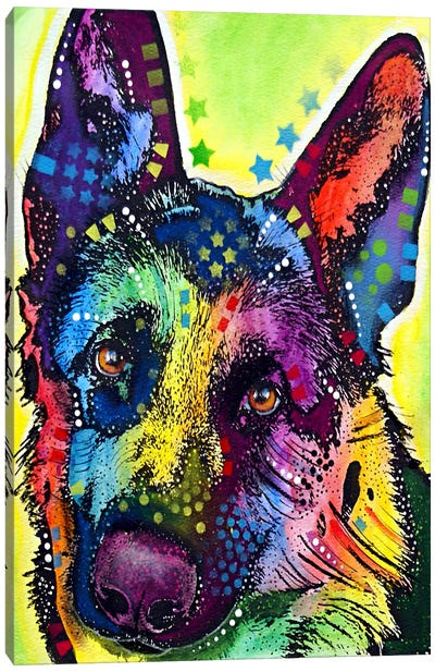 German Shepherd by Dean Russo Canvas Artwork