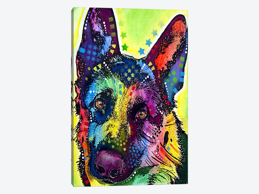 German Shepherd by Dean Russo 1-piece Art Print