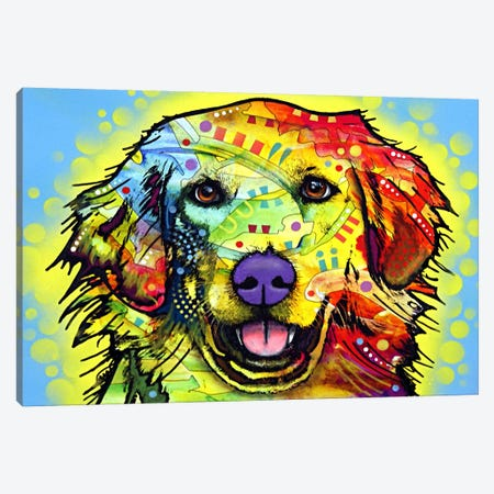 Golden Retriever Canvas Print #4249} by Dean Russo Canvas Artwork