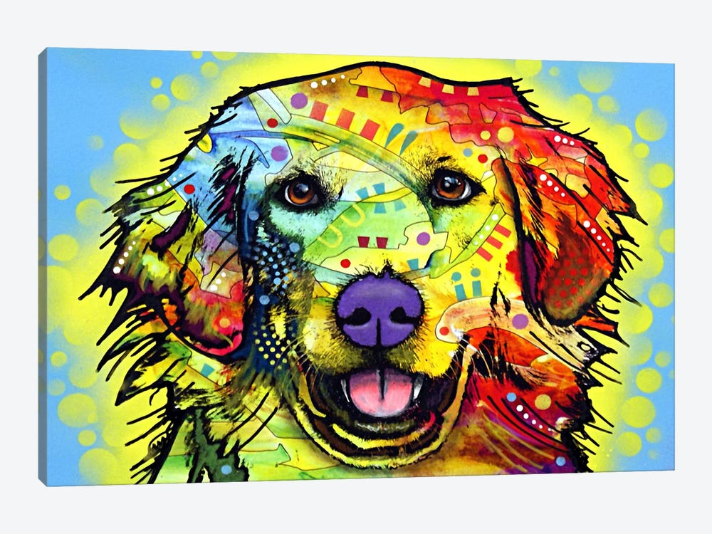 Golden Retriever by Dean Russo 1-piece Canvas Artwork
