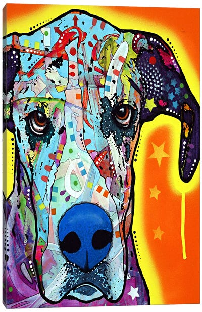 Great Dane by Dean Russo Canvas Art Print