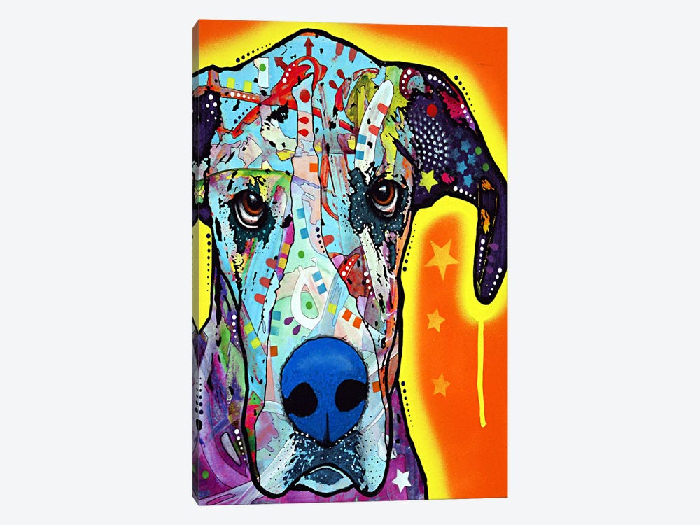 Great Dane by Dean Russo 1-piece Canvas Wall Art