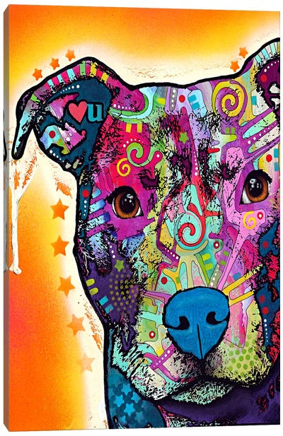 Heart U Pit Bull Canvas Art Print