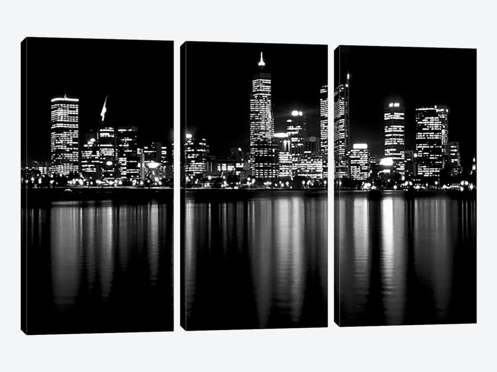 Downtown City by Unknown Artist 3-piece Canvas Print