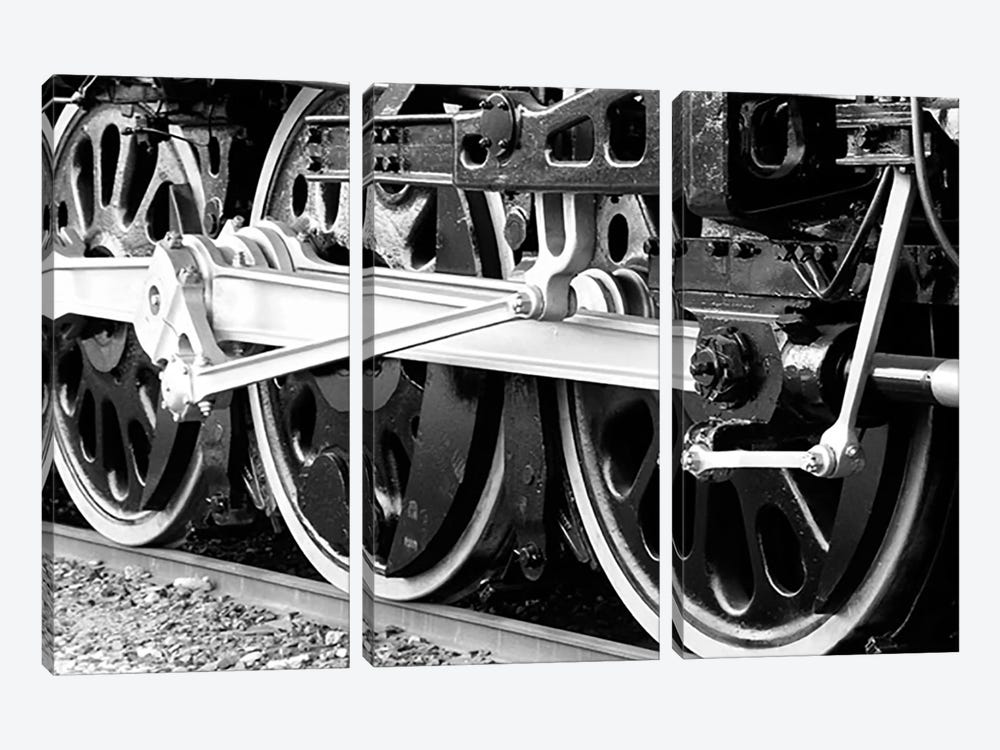 Antique Train 3-piece Canvas Art