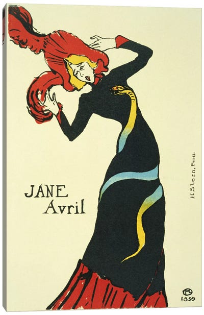 Jane Avril Vintage Poster Canvas Print #5000