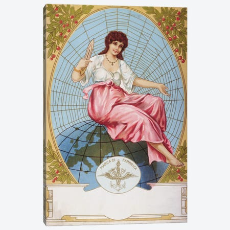 Marca Di Fabrica Vintage Poster Canvas Print #5012} by Unknown Artist Canvas Wall Art