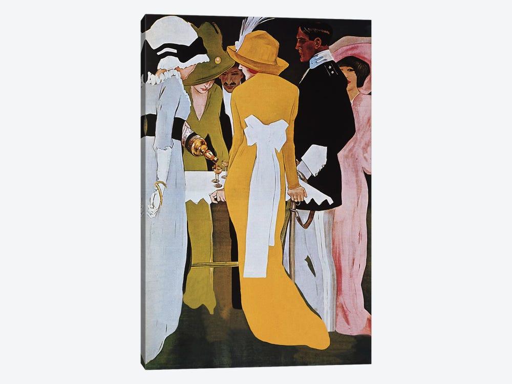 Cordial Campari Liquer Vintage Poster by Marcello Dudovich 1-piece Canvas Print