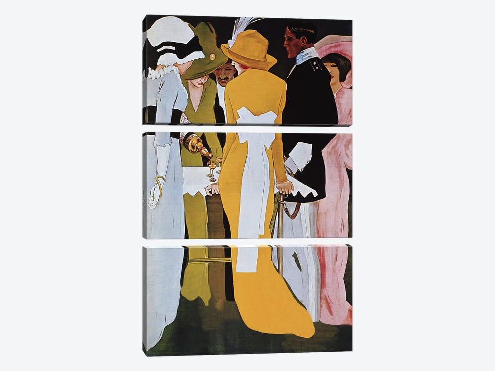 Cordial Campari Liquer Vintage Poster by Marcello Dudovich 3-piece Canvas Print