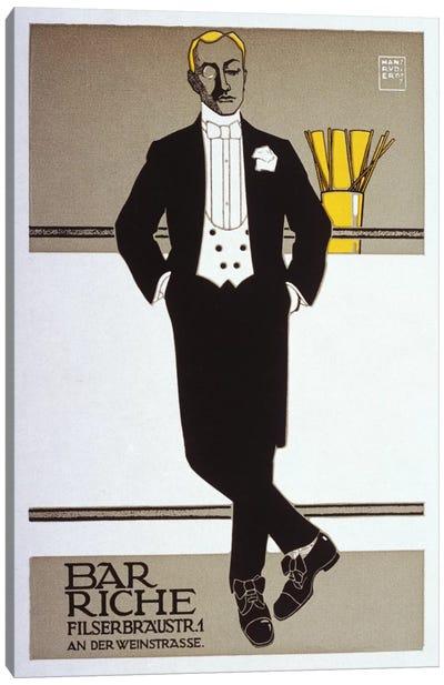 Bar Riche Vintage Poster Canvas Art Print