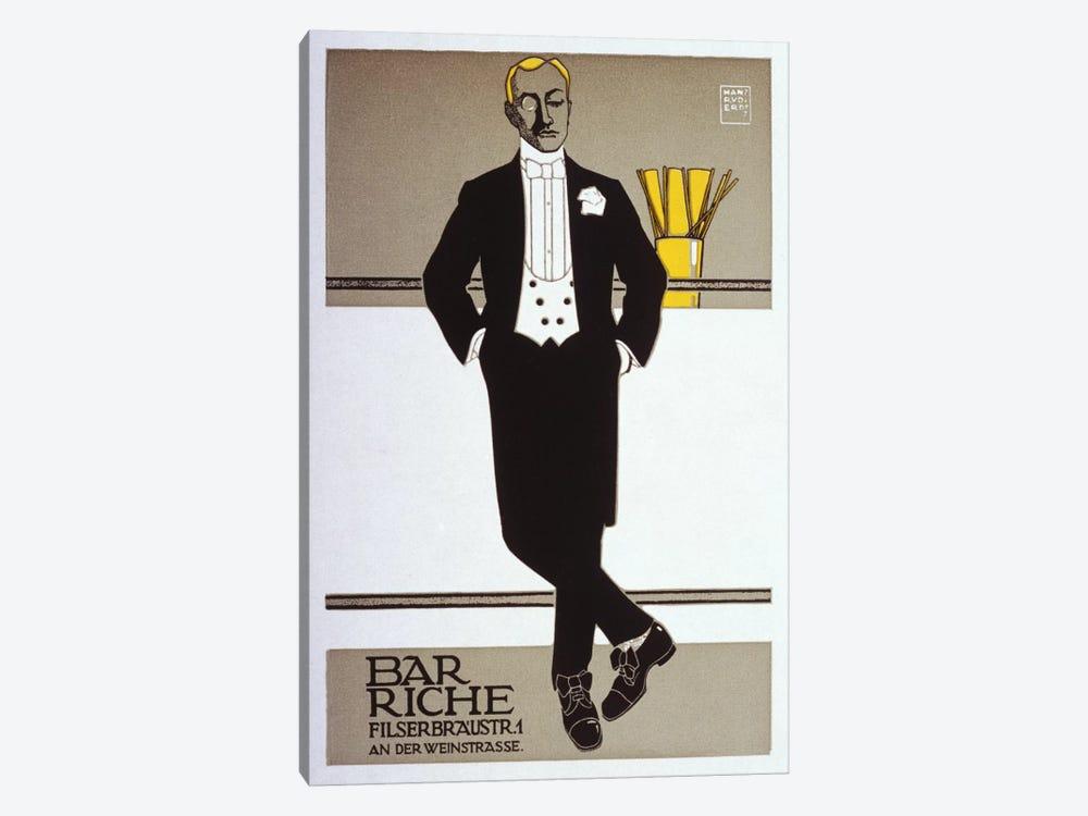 Bar Riche Vintage Poster by Hans Rudi Erdt 1-piece Canvas Wall Art
