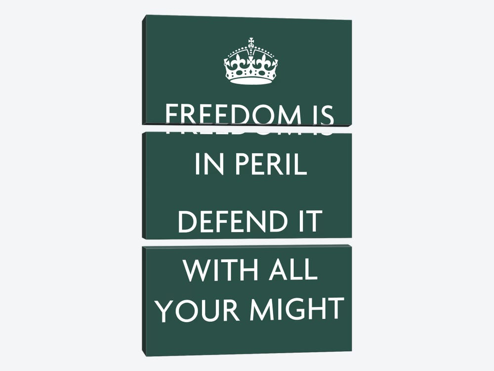 Freedom Is In Peril, Defend It with All Your Might by Unknown Artist 3-piece Canvas Artwork