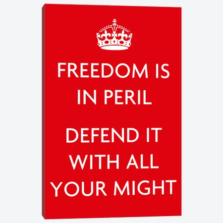 Freedom Is In Peril Canvas Print #5020} by Unknown Artist Canvas Art Print