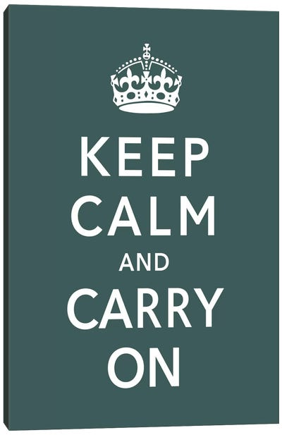 Keep Calm & Carry on (green) Canvas Art Print
