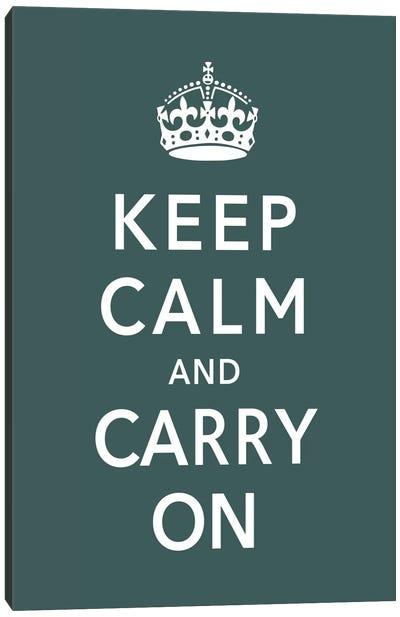 Keep Calm & Carry on (green) Canvas Art Print