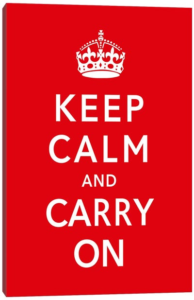 Keep Calm & Carry on Canvas Art Print