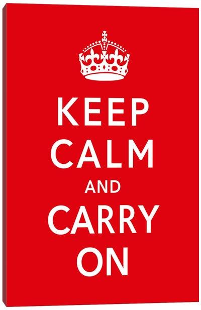 Keep Calm & Carry on Canvas Print #5022