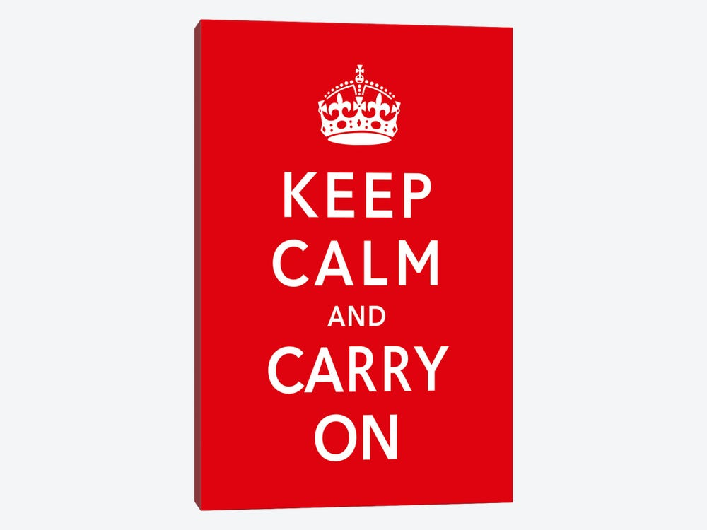 Keep Calm & Carry on by Unknown Artist 1-piece Canvas Wall Art