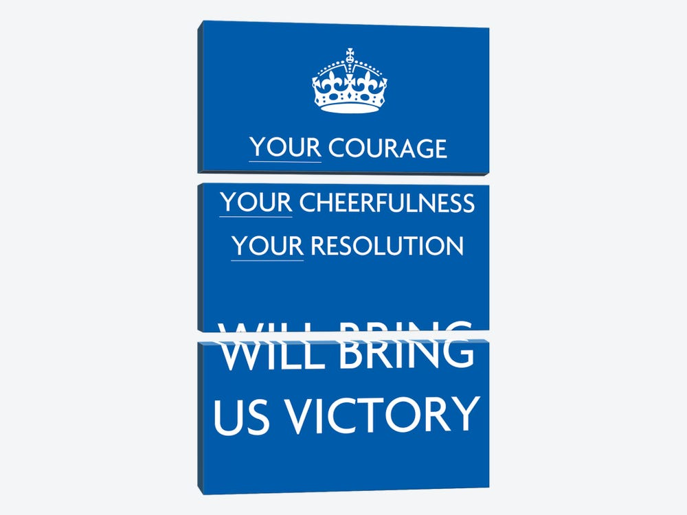 Your Courage Your Cheerfulness by Unknown Artist 3-piece Canvas Wall Art