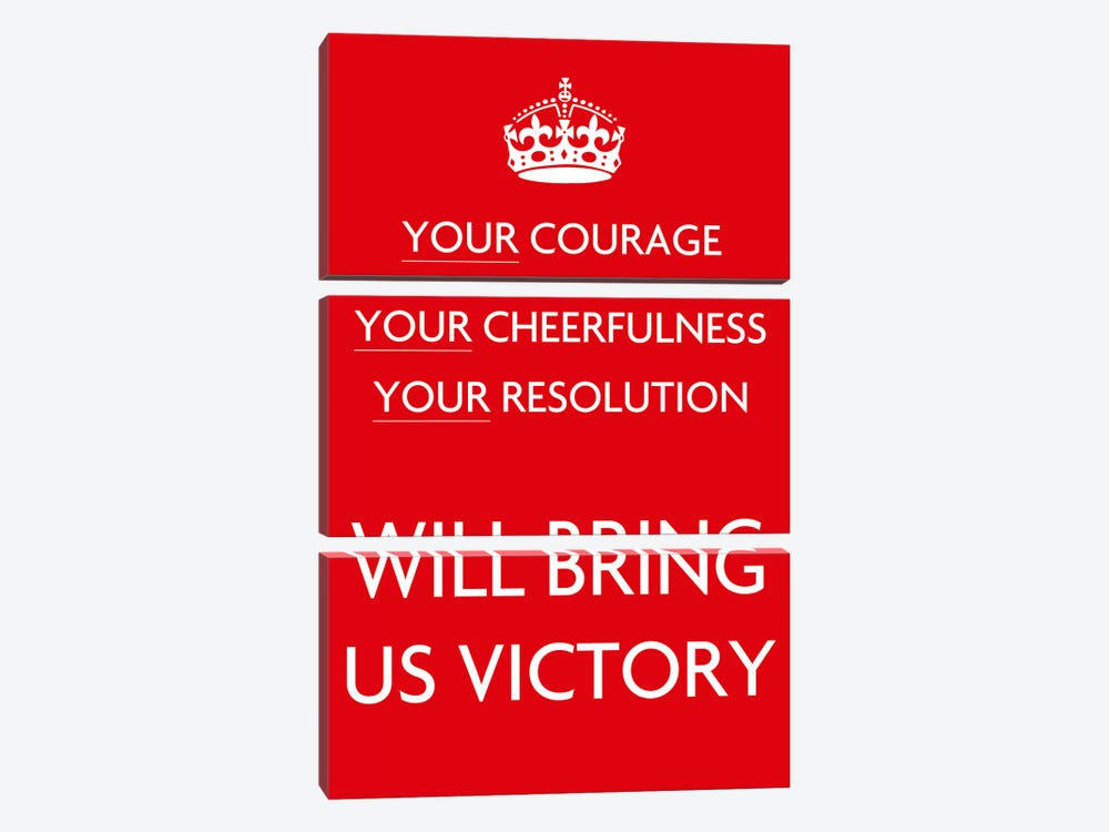 Your Courage Your Cheerfulness Your Resolution 3-piece Canvas Print