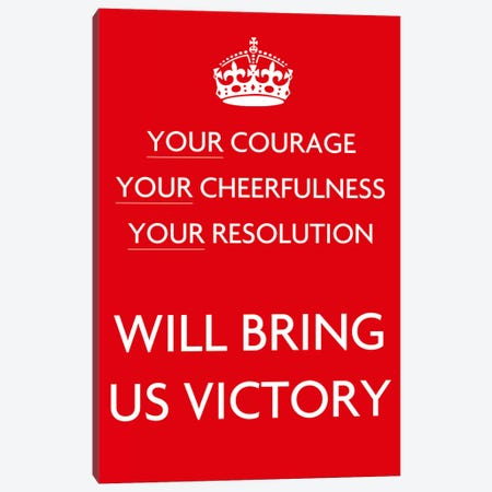 Your Courage Your Cheerfulness Your Resolution 3-Piece Canvas #5025} by Unknown Artist Canvas Artwork