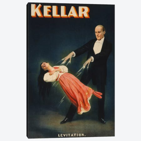 Kellar: Levitation of Princess Karnac Vintage Magic Poster Canvas Print #5027} Canvas Artwork