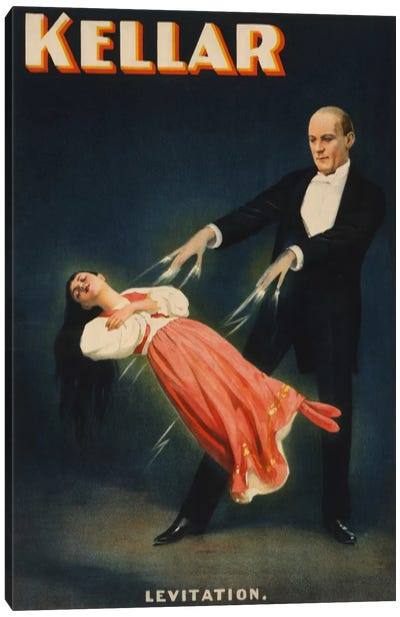 Kellar: Levitation of Princess Karnac Vintage Magic Poster Canvas Art Print