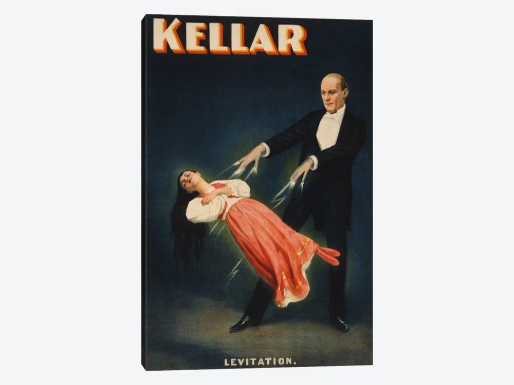 Kellar: Levitation of Princess Karnac Vintage Magic Poster by Unknown Artist 1-piece Canvas Art Print