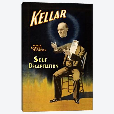 Kellar: Self Decapitation Vintage Magic Poster Canvas Print #5028} by Unknown Artist Art Print