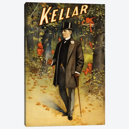 Kellar: In The Forest of Demons (imps) Vintage Magic Poster Canvas Print #5030} Canvas Wall Art