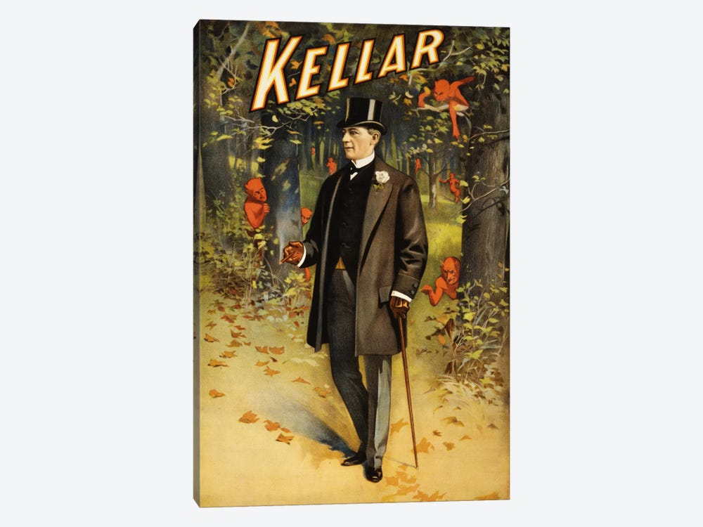 Kellar: In The Forest of Demons (imps) Vintage Magic Poster by Unknown Artist 1-piece Canvas Print