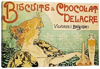 Delacre Biscuits & Chocolat Vintage Poster Canvas Art Print